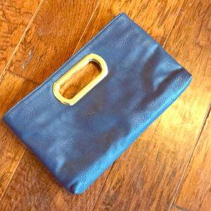 Blue clutch or cross body purse